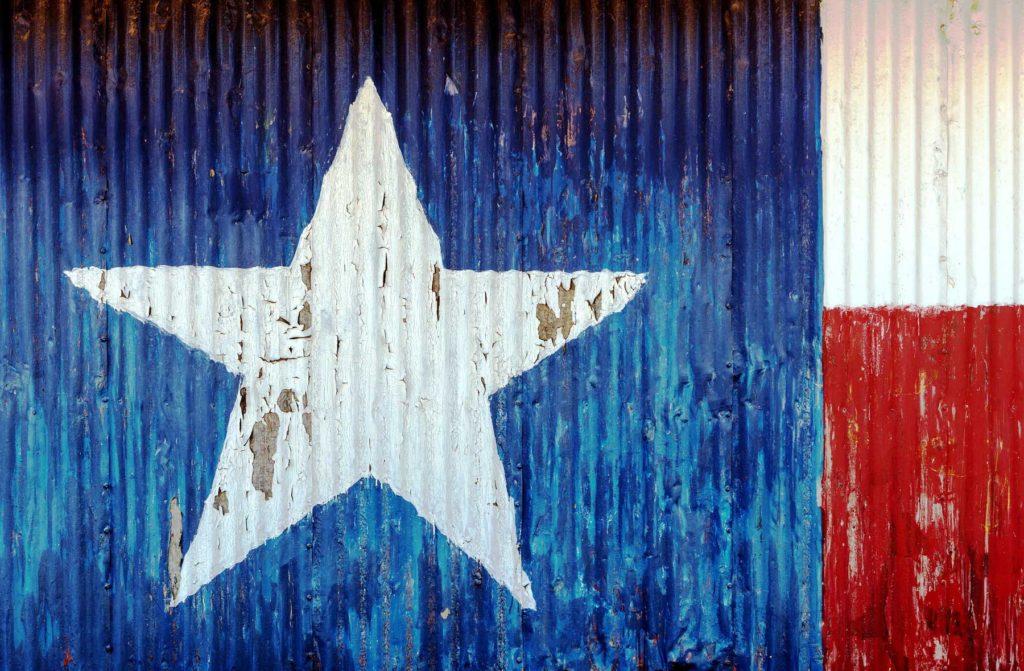 Texas Map on Barn Wall